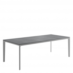 """Gloster 7622W Carver 39.5"""" X 86.5"""" Rectangular Table w/Pumice Ceramic Top  with White Finish"""