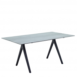 """Gloster 8131M Split 36"""" X 67"""" Rectangular Table w/Pumice Ceramic Top with Meteor finish"""
