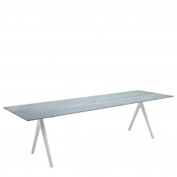 """Gloster 8151W Split 36"""" x 110"""" Rectangular Table w/Pumice Ceramic Top with White finish"""