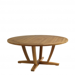 """Gloster 8631 Oyster Reed 66"""" Round Dining Table"""