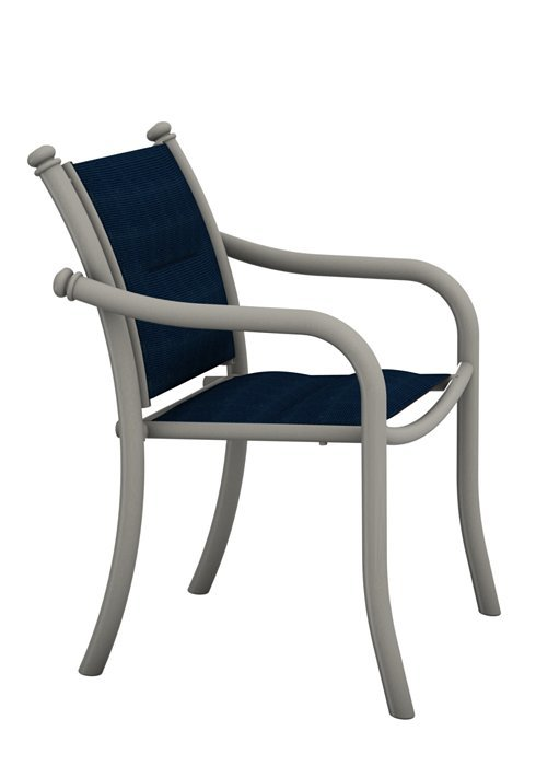 La Scala Padded Sling Dining Chair Low Back Hauser S Patio