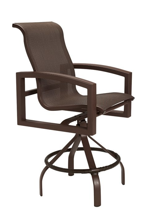 lakeside sling swivel barstool with 30 seat height hauser 39 s patio. Black Bedroom Furniture Sets. Home Design Ideas
