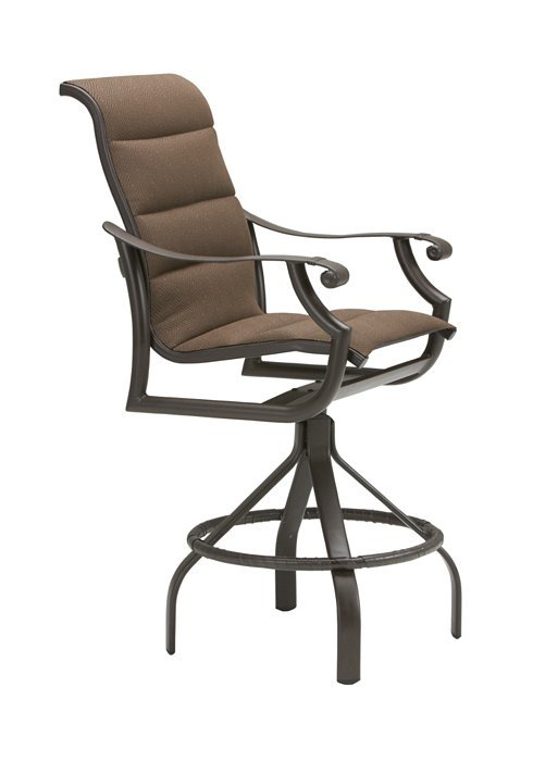 montreux padded sling swivel barstool with 30 seat height hauser 39 s patio. Black Bedroom Furniture Sets. Home Design Ideas