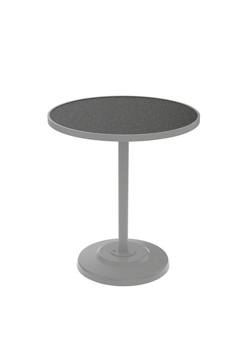 Bar Table 36 Round Pedestal Hpl With Umbrella Hole Hauser S Patio