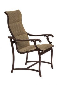 ravello padded sling swivel barstool with 25 seat height hauser 39 s patio. Black Bedroom Furniture Sets. Home Design Ideas