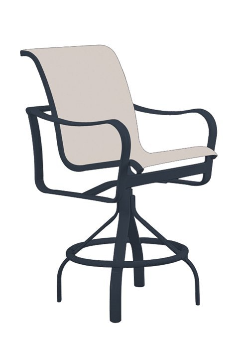 shoreline sling swivel barstool with 29 seat height hauser 39 s patio. Black Bedroom Furniture Sets. Home Design Ideas
