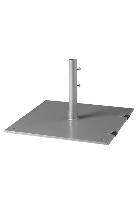 Steel Plate Umbrella Base 24 Quot Square With 2 5 Quot Pole And