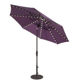 9' Octagonal Startlight Umbrella w/ Collar Tilt