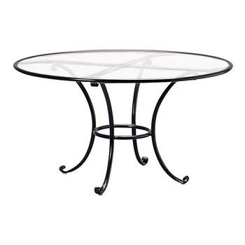Roma 48 Round Dining Table With Aluminum Top No Umbrella