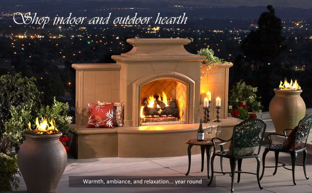 outdoor fire place fireplace hearth