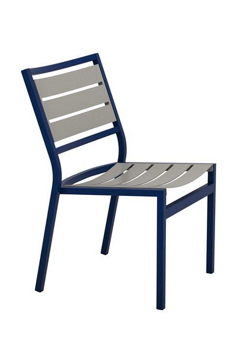 Tropitone Patio Chairs: Cabana Club Aluminum Slat Side Chair