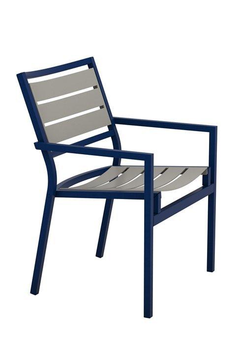 Cabana Club Aluminum Slat Dining Chair Low Back Hauser S