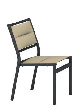 Cabana Club Aluminum Padded Sling Side Chair