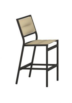 "Cabana Club Aluminum Padded Sling Barstool With 25"" Seat Height"