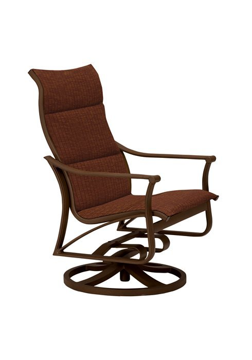 Tropitone Patio Chairs: Corsica Padded Sling Swivel Action Lounger