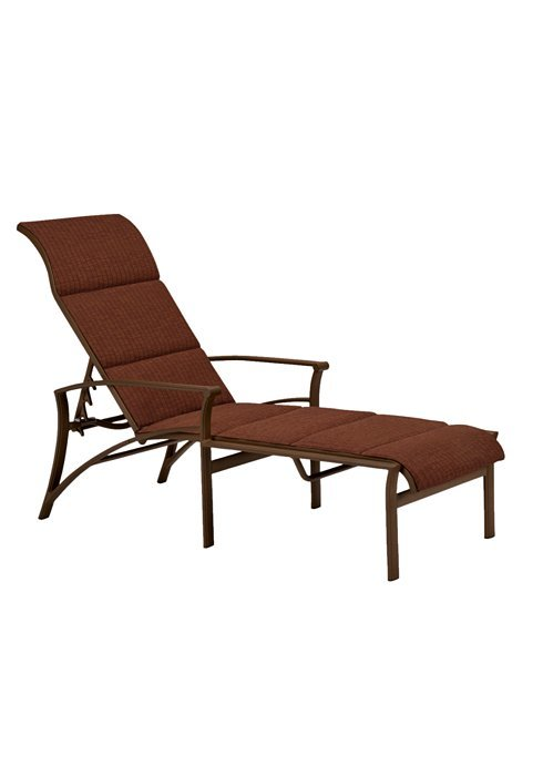 Corsica Padded Sling Chaise Lounge Hauser 39 S Patio