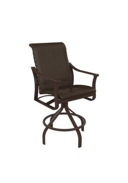 """Corsica Woven Swivel Barstool With 28"""" Seat Height"""