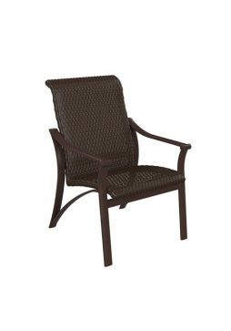 Corsica Woven Dining Chair Low-Back