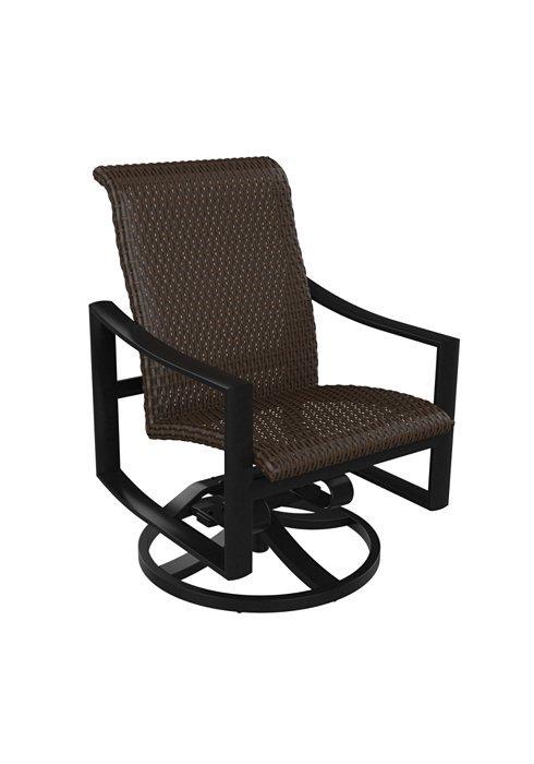 Tropitone Patio Chairs: Kenzo Woven Swivel Rocker Low-Back