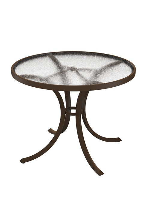 Dining Table Round With Acrylic Top Hausers Patio - 36 round outdoor dining table