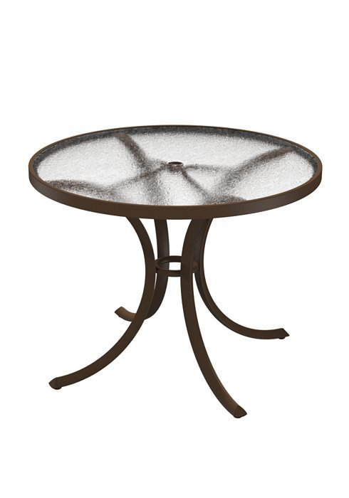 Dining Table 36 Quot Round Acrylic Top With Umbrella Hole