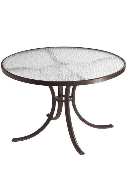 Dining Table 42 Round With Acrylic Top