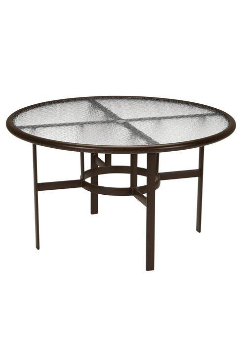 Dining Table 48 Quot Round Acrylic Top With Umbrella Hole