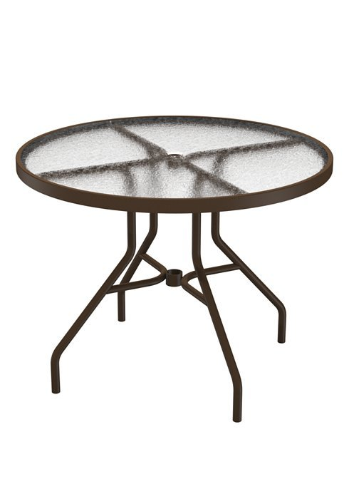Dining Table 36 Quot Round Acrylic With Umbrella Hole Hauser
