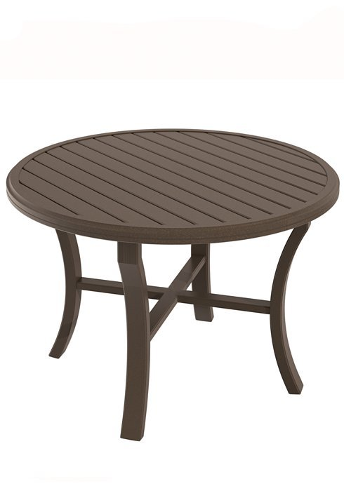 Dining table 42 round banchetto hauser 39 s patio for Tropitone patio furniture