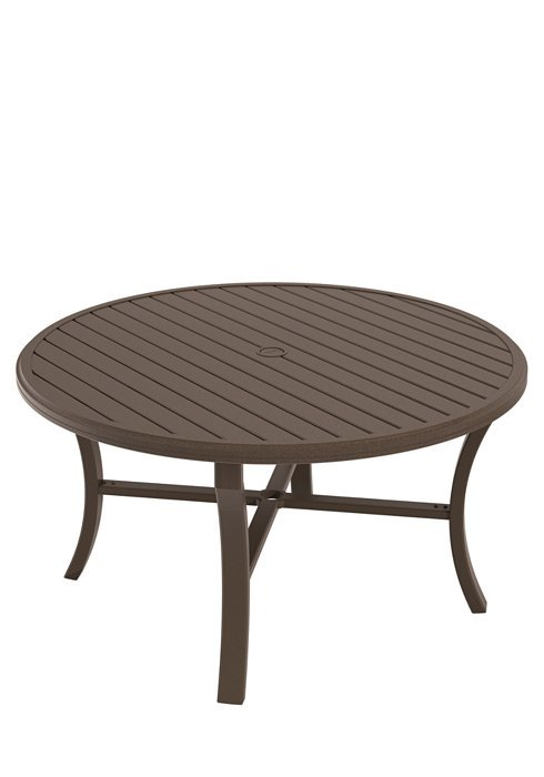 "Dining Table 54"" Round Banchetto With Umbrella Hole"
