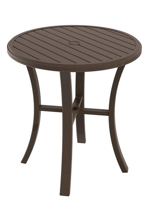 "Tropitone Patio Chairs: Bar Table 36"" Round Banchetto"