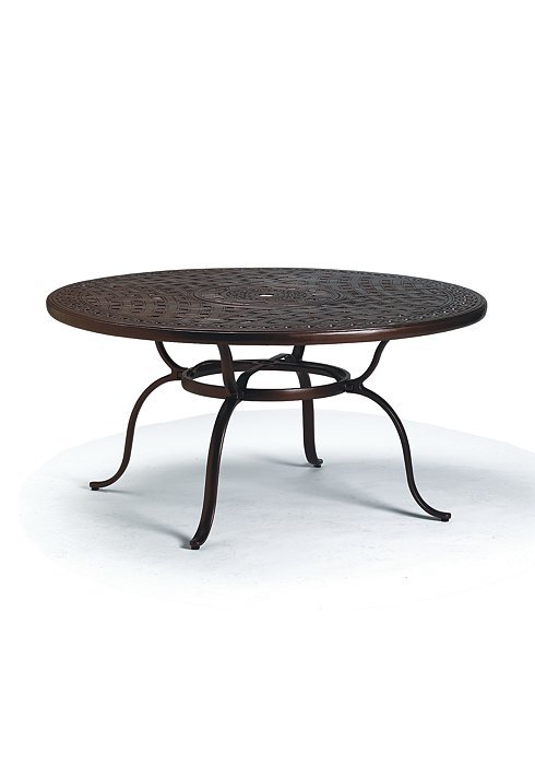 Dining table 55 round garden terrace pattern with for Tropitone patio furniture