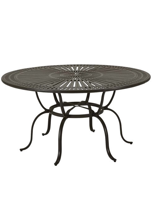 Dining Table 66 Round Spectrum Pattern With Umbrella Hole