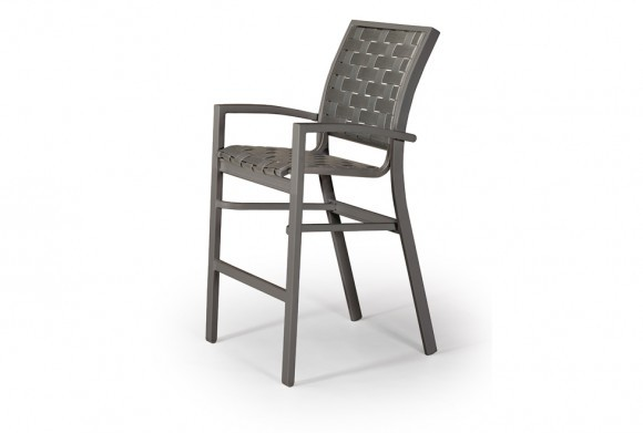 Kendall Contract Cross Strap Bar Height Stacking Chair
