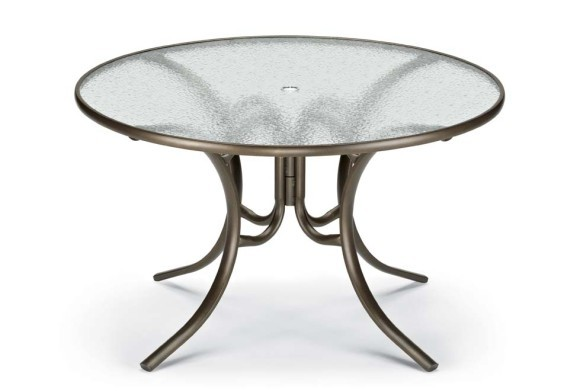 """Round Glass Dining Table 48 Inches: 48"""" Round Dining Height Table (with Umbrella Hole"""