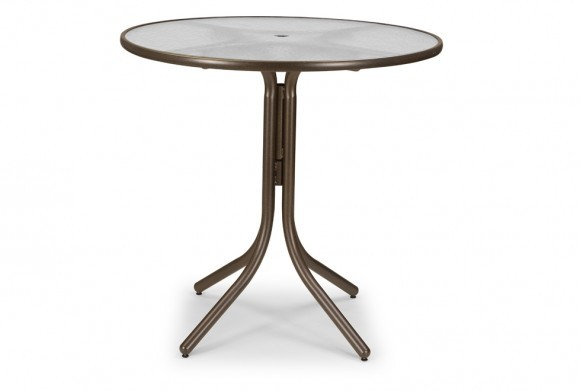 42 Round Bar Height Table With Umbrella Hole Hauser S Patio