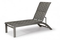 Kendall Contract Cross Strap Lay-flat Stacking Armless Chaise