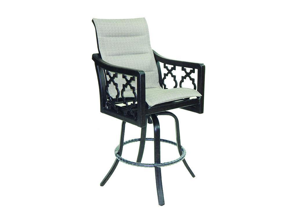 Belle Epoque Padded Sling High Back Swivel Bar Stool