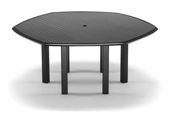 63 Quot Hexagonal Dining Height Table With Umbrella Hole