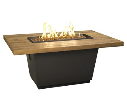 Reclaimed Wood Cosmo Rectangle Fire Table
