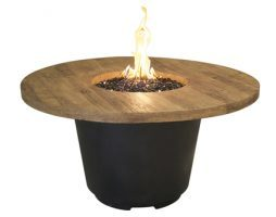 Reclaimed Wood Cosmo Round Fire Table
