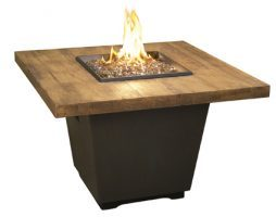 Reclaimed Wood Cosmo Square Fire Table