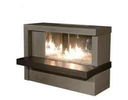 Inverted Fire Table w/ Concrete Top