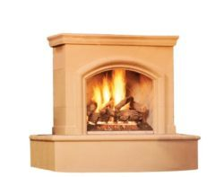 American Fyre Phoenix with back vent outdoor gas fireplace