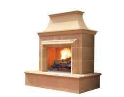 American Fyre Reduced Grand Cordova outdoor gas fireplace