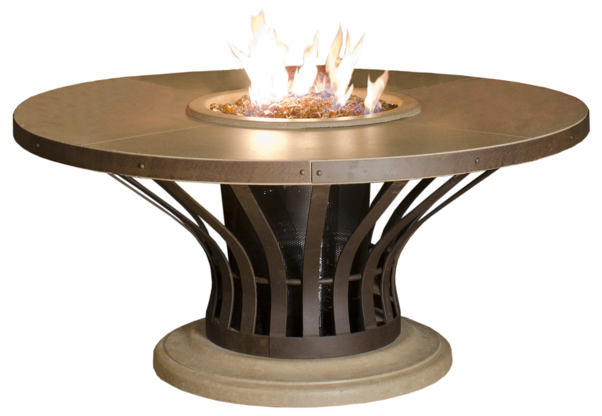Fiesta Dining Height Fire Table - Hauser\'s Patio