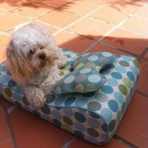 Custom Dog Bed w/ Bone Shaped Pillow