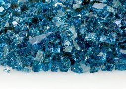 "1/4"" Blue Lagoon Reflective Fire Glass"