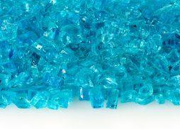 """1/4"""" Caribbean Blue Fire Glass"""