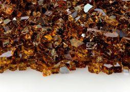 """1/4"""" Copper Reflective Fire Glass"""